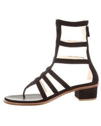 2010a3e8c265 Lyst - Chanel Suede Gladiator Sandals in Black