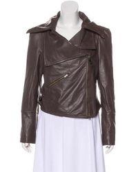 Vivienne Westwood Red Label - Asymmetrical Leather Jacket - Lyst