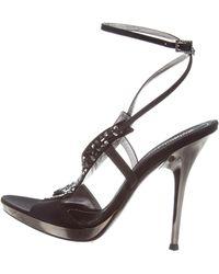 Baldinini - Jewel-embellished Satin Sandals - Lyst