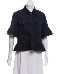 Kate Spade - Short Sleeve Denim Jacket W/ Tags - Lyst