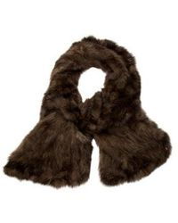 Pologeorgis - Knitted Sable Stole Brown - Lyst