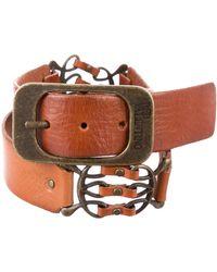 RED Valentino - Embellished Leather Belt Tan - Lyst