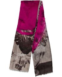 Christopher Kane - Floral Print Scallop-trimmed Scarf Pink - Lyst