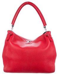 Louis Vuitton - Taurillon Tournon Hobo Red - Lyst 493e6e724a0dd