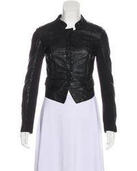 Day Birger et Mikkelsen - Leather Button-up Jacket - Lyst