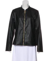 MICHAEL Michael Kors - Michael Kors Paneled Faux Leather Jacket - Lyst