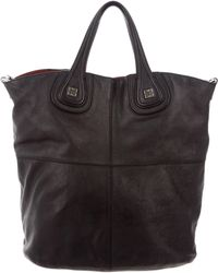 Givenchy - Nightingale Leather Tote Black - Lyst