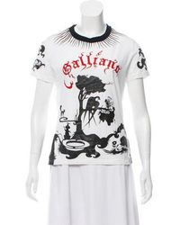 John Galliano - Printed Short Sleeve T-shirt - Lyst