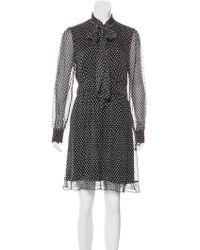 Diane von Furstenberg - Arabella Silk Dress Black - Lyst