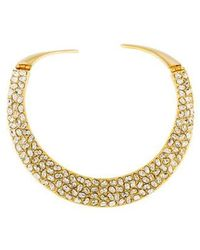 Kenneth Jay Lane - Crystal Collar Necklace Gold - Lyst