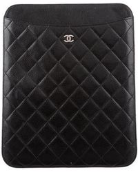 Chanel - Quilted Ipad Case Black - Lyst
