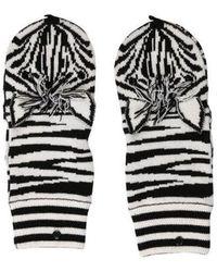 Alice + Olivia - Zebra Knit Mittens - Lyst