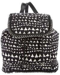 Stella McCartney - Heart Canvas Falabella Backpack Black - Lyst