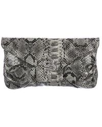 Kenneth Jay Lane - Embossed Patent Leather Clutch W/ Tags Grey - Lyst