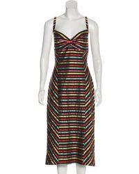 L'Wren Scott - Striped Sleeveless Dress W/ Tags - Lyst