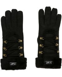 UGG - Logo Shearling Gloves W/ Tags - Lyst