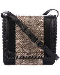 DANNIJO - Snakeskin-trimmed Lypton Box Bag Black - Lyst