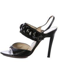 Alberta Ferretti - Embellished Slingback Sandals - Lyst
