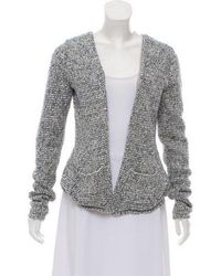 Theyskens' Theory - Holographic Knit Cardigan Silver - Lyst