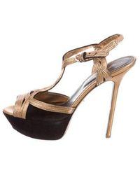 1d34118a7750 Lyst - Sergio Rossi Platform Sandals Silver in Metallic