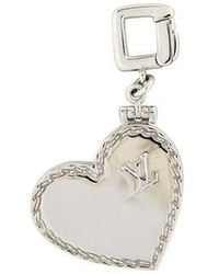 Louis Vuitton - 18k Heart Locket Charm White - Lyst