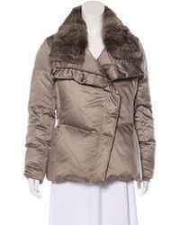 Tumi - Fur Down Jacket - Lyst