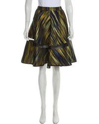 Ostwald Helgason - Metallic Knee-length Skirt - Lyst
