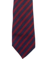 Dior Homme - Striped Silk Tie Navy - Lyst