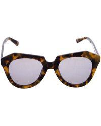 fd9edd4358dc Karen Walker - Number One Reflective Sunglasses Brown - Lyst