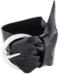 Isabel Marant - Patent Leather Bracelet Silver - Lyst