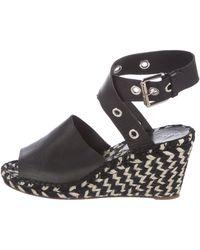 Proenza Schouler - Leather Wedge Sandals Black - Lyst