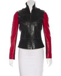 Derek Lam - Two-tone Leather Jacket - Lyst