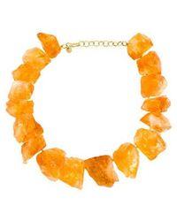 Kara Ross - 18k Raw Citrine Necklace Yellow - Lyst