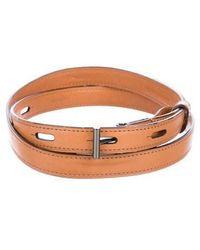Reed Krakoff - Narrow Leather Waist Belt Tan - Lyst