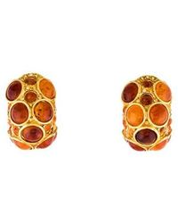 Kenneth Jay Lane - Cabochon Clip-on Earrings Gold - Lyst