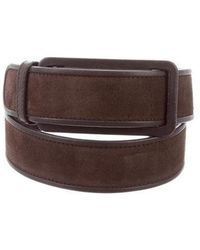 Loro Piana - Leather-trimmed Suede Belt - Lyst