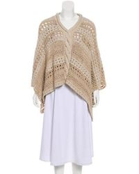 Maiyet - Open Knit Poncho Tan - Lyst