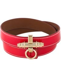 Givenchy - Leather Obsedia Triple Wrap Bracelet Gold - Lyst