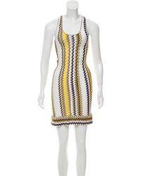 c815f35a65 Lyst - Missoni Patterned Midi Dress Tan in Natural
