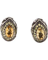 M.c.l  Matthew Campbell Laurenza - Citrine, Sapphire, & Enamel Earrings Silver - Lyst