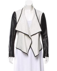 Sachin & Babi - Leather-trimmed Striped Jacket - Lyst