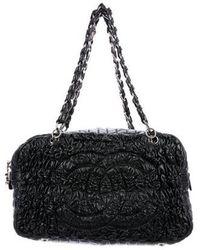 Chanel - Astrakhan Bowler Bag Black - Lyst