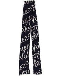 Louis Vuitton - Volez Voguez Voyagez Ribbon Stole Navy - Lyst