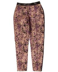 Sophie Theallet - Mid-rise Pants Purple - Lyst