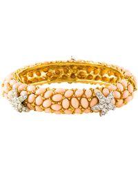 Kenneth Jay Lane - Starfish Bracelet Gold - Lyst