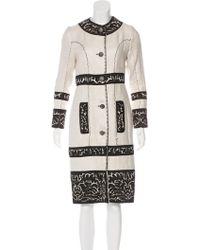 Proenza Schouler - Embroidered Linen Coat - Lyst