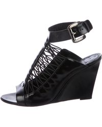 Givenchy - Leather Wedged Sandals - Lyst