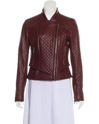 MICHAEL Michael Kors - Michael Kors Quilted Leather Jacket - Lyst