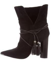 90ddb2fa9 Lyst - Sam Edelman Winnie Tassel Leather Booties in Brown