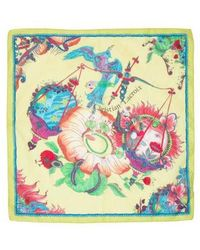 Christian Lacroix - Printed Square Scarf Lime - Lyst